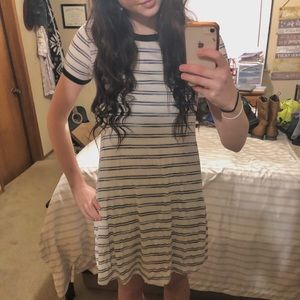 Mossimo Blue and White Striped T-Shirt Dress
